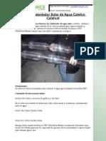 Manual Calentador Solar de Agua Calefon Calefont
