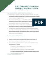 El Proceso Terapeutico en La Psicoterapia Constructivista