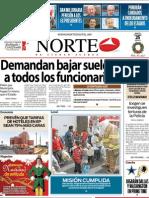 Periodico Norte de Ciudad Juárez 25 de Diciembre de 2012