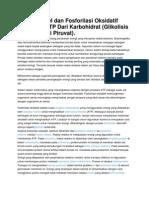 Bioenergi Sel Dan Fosforilasi Oksidatif Perolehan ATP Dari Karbohidrat