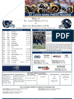 Week 17 2012 - Rams at Seahawks