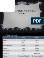 Intrauterine Fetal Death