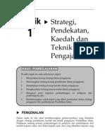 Topik 1 Strategi Pendekatan Kaedah Dan Teknik Pengajaran