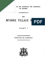 mysore village manual