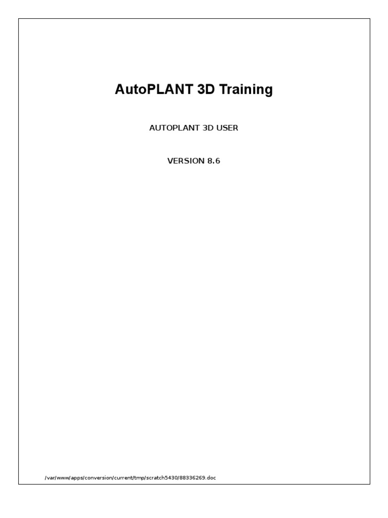 85182668 autoplant 3d training1 installation computer programs databases