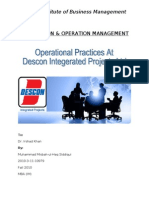 Operational Practices at DIPL