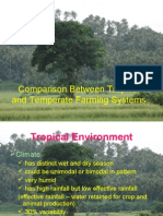 Comparison Between Tropical and Temperate Farming Systems