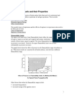 Properties of Hydrocarbon Fuels