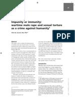 Impunity or immunity
