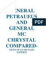 GENERAL PETRAEUS AND GENERAL MC CHRYSTAL COMPARED-US VIEWS