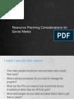 Resource Planning for Social Media Marketing - EBriks Infotech