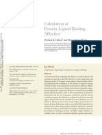 Calculations of Protein-Ligand Binding Affinities