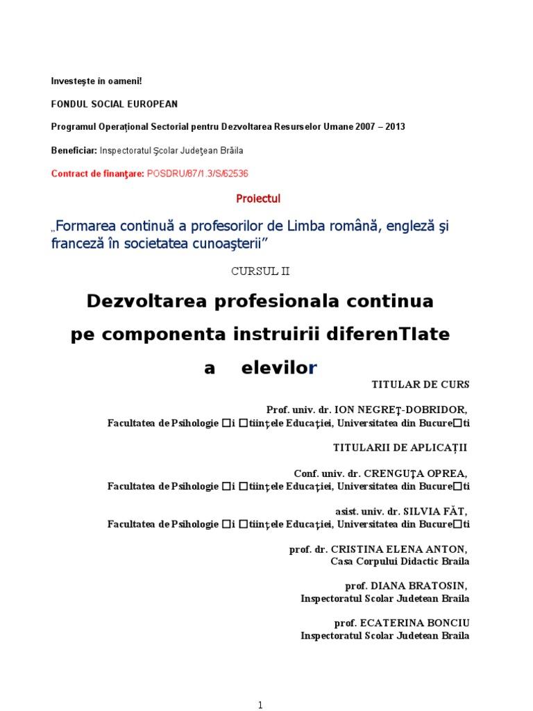DIFERENTIEREA INSTRUIRII2.doc