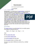 Rotor Dynamics