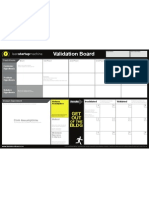 Lean Startup Validation Board