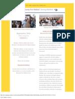 2011 September Humanity First Medical Newsletter