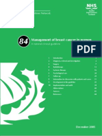 Management of Breast Cancer in Women (a National Clinical Guideline)