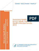 Summary Health Statistics for U.S. Adults