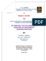 mba marketing project report