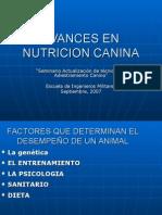 Avances en Nutricion Canina