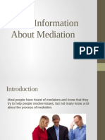 Basic Information About Mediation