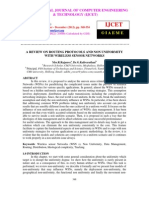 A Review on Routing Protocols and Non Uniformity With Wireless Sensor Networks