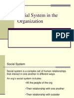 Social System in the Organization