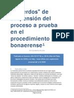 """""""Acuerdos"""" de suspensión del proceso a prueba en el procedimiento bonaerense"""