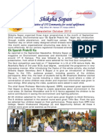 Shiksha Sopan October 2012 newsletter