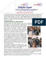 Shiksha Sopan December 2012 newsletter