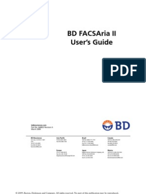 Bd Facsaria Ii Users Guide Laser Flow Cytometry