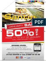 Pizza Santino January Sale Leaflet