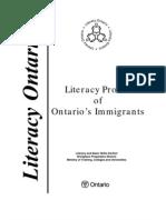 Literacy Report Ontario