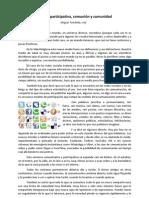 Cultura participativa, comunión y comunidad-Miguel Tombilla, cmf