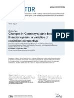 Chenges in Germany's bank-based financial system