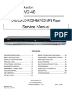 Manual de servicio Harman Kardon (DVD)