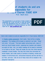 Touro Course_EdSE 604 What Students Do and Are Responsible For