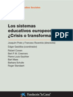 los sistemas educativos europeos.¿crisis o modernidad?