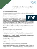Protocolo por el que se enmienda la Convención sobre la Prescripción en Materia de Compraventa Internacional de Mercaderías. Viena, 11 de abril de 1980