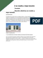 Electricidad en media y baja tensión