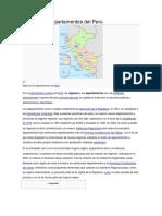 Regiones y departamentos del Perú