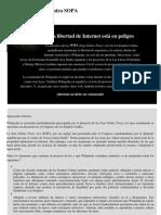 Protesta Contra SOPA - Wikipedia, La Enciclopedia Libre