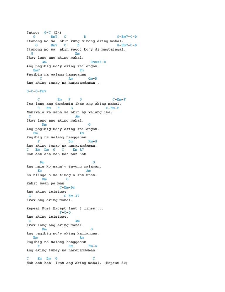 Chorus Ikaw Lamang - Lavfd