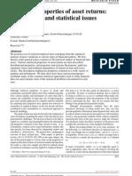 Empirical Properties of Asset Returns