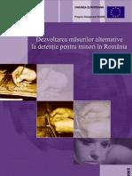Dezvoltarea masurilor alternative la detentie pentru minori in romania