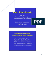 Dairy Plant Security
