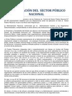 CONFIGURACIÓN DEL  SECTOR PÚBLICO NACIONAL
