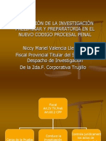 rol del fiscal en la Inv. Preparatoria