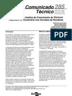 Análise do Crescimento de Panicum maximum cv. Centenário