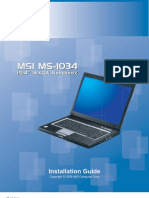 MSI M660 (1034) Kurulum Rehberi